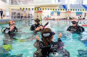 Nautilus Aquatics Instructor teaching Open Water Scuba Diver