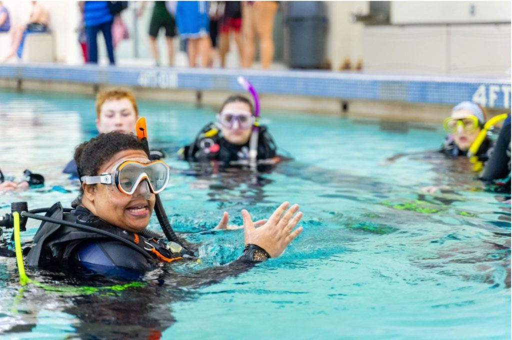 Scuba Review Students at Nautilus Aquatics