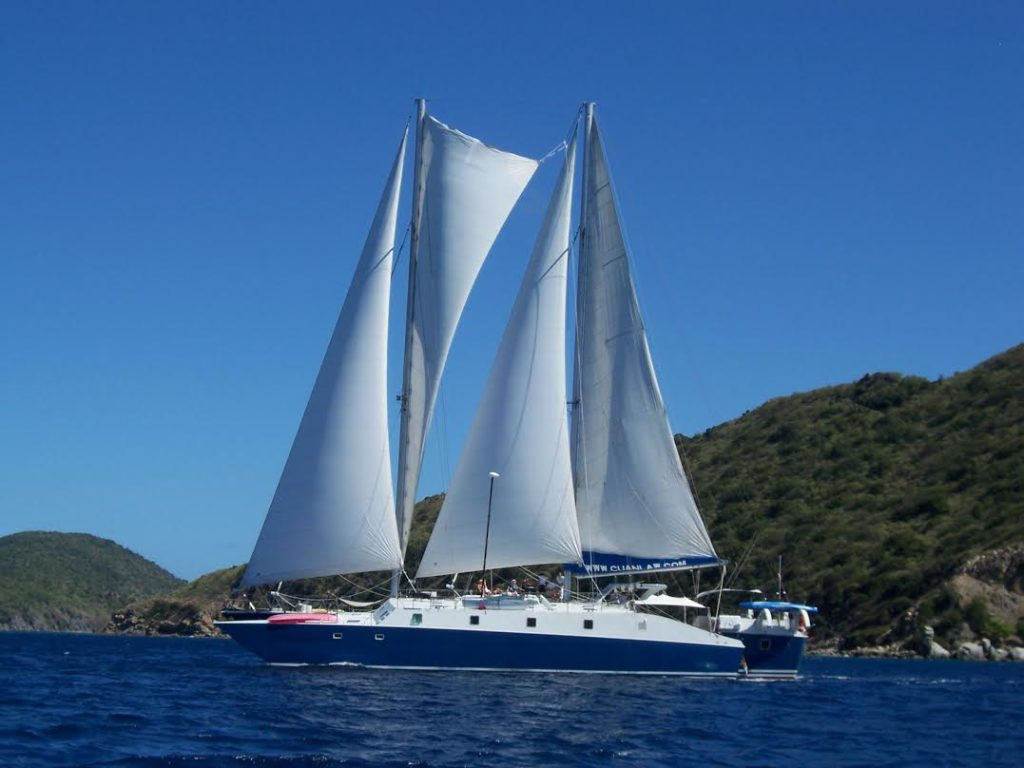 Come diving with Nautilus Aquatics on the largest Trimaran in the world as we cruse around the BVI British Virgin Islands