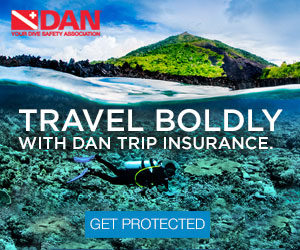 DAN Trip Insurance picture of scuba diver under water