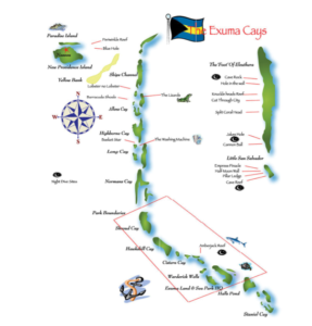 Aqua Cat liveaboard dive map in the Bahamas